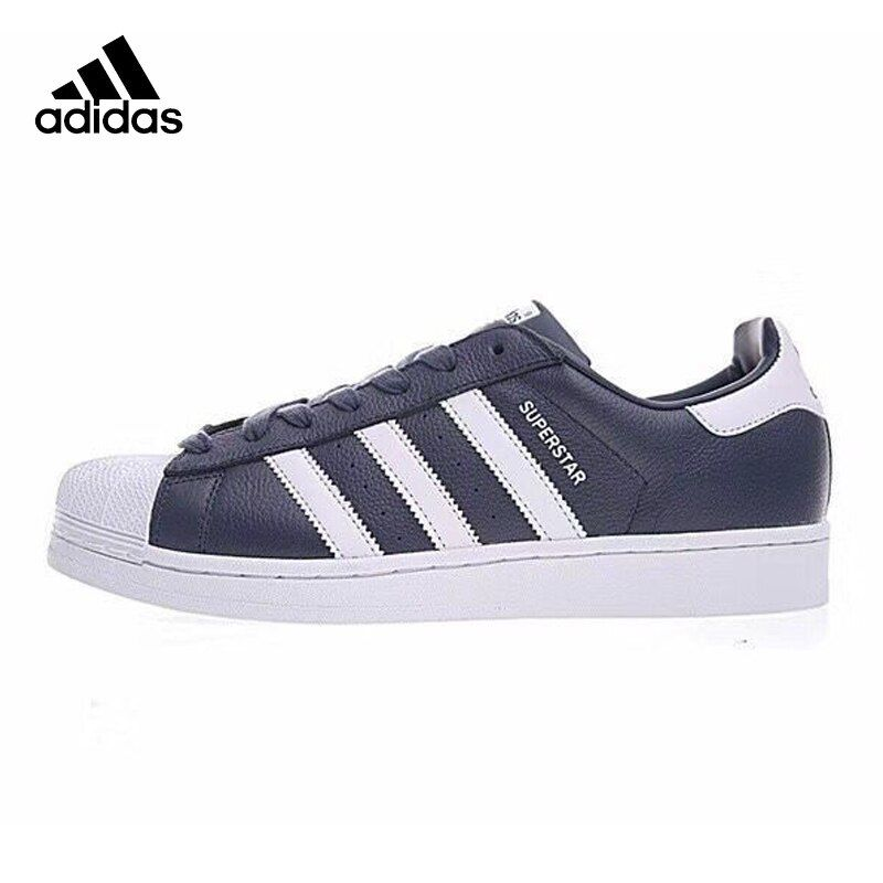 Adidas Clover SUPERSTAR Men Skateboarding Shoes , Blue, Non-Slip Shock Absorbing Impact Resistant Abrasion Resistant BB 2239