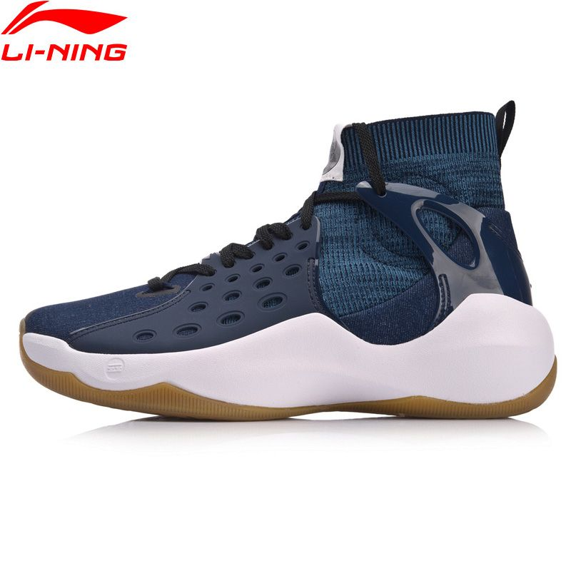Li-Ning Men Sonic VI Professional Basketball Shoes Mono Yarn Cushion Li Ning TPU Wearable Sport Shoes Sneakers ABAN021