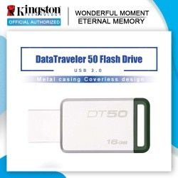 Kingston Digital DT50 USB 3.0 USB Flash Drive 16GB Pendrive 128GB 32GB Pendrive 64GBGB Metal Pen Drives 8GB Memory U Stick