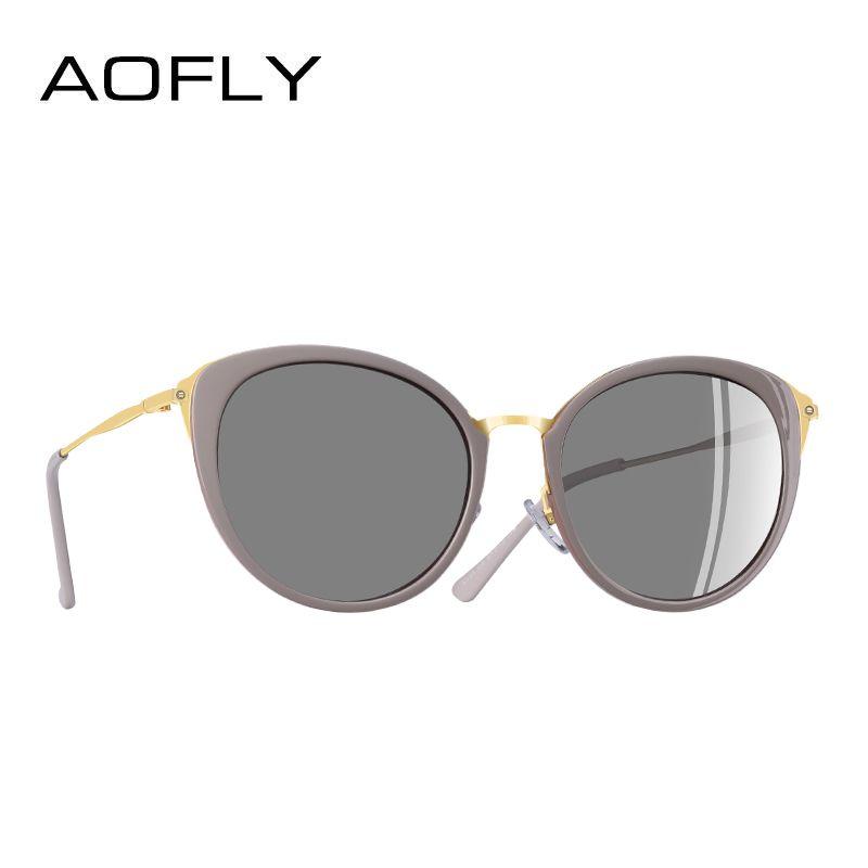 AOFLY MARKE DESIGN Polarisierte Sonnenbrille Frauen Mode Damen Cat Eye Sonnenbrille Brillen Gafas De Sol Brille A131
