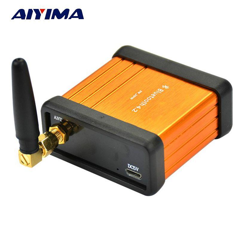 Aiyima HIFI Bluetooth <font><b>Amplifier</b></font> Board CSR64215 V4.2 Stereo Audio Bluetooth Receiver Box Car Bluetooth Modified DIY Support APTX