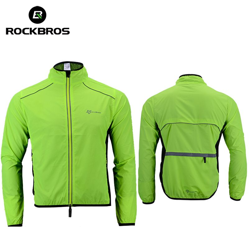 ROCKBROS Cycling Bike Bicycle Jacket Coat Cycling Bicycle Jersey Clothing Windproof Reflective Quick Dry Coat Bike <font><b>Equipment</b></font>