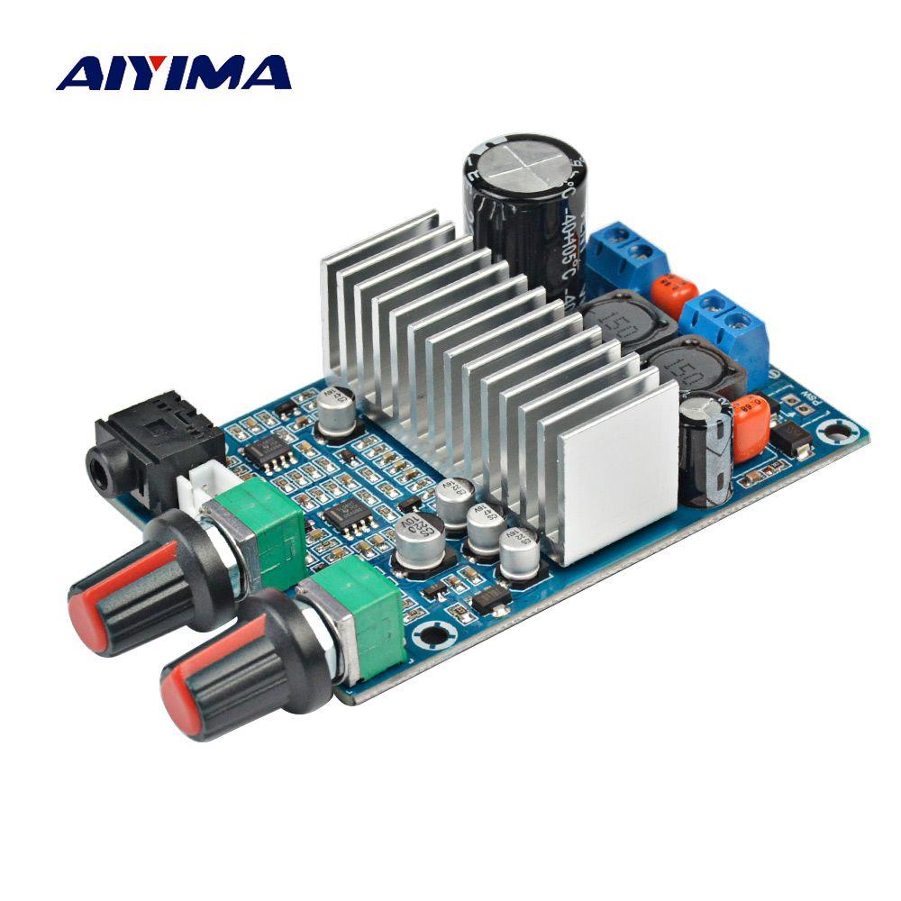 Aiyima TPA3116 Subwoofer Amplifier Board TPA3116D2 Audio Amplifiers <font><b>100W</b></font> Bass Output DC12-24V