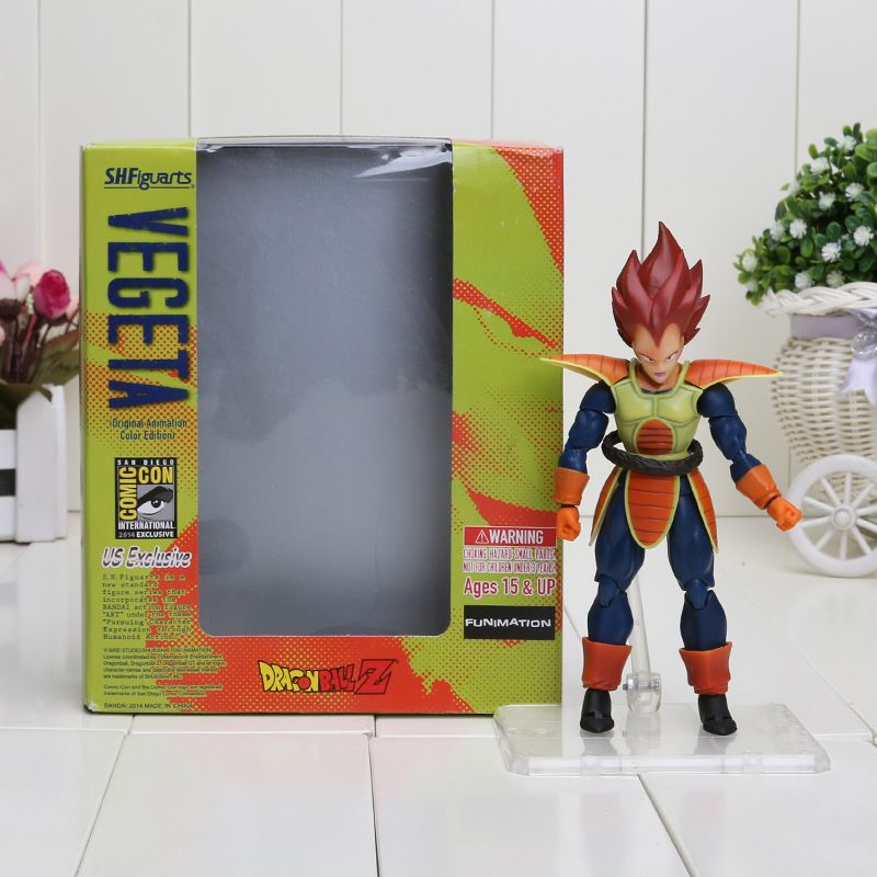 Dragon Ball S H Figuart red Hair Battle frame Vegeta SHF Action Figure Toy