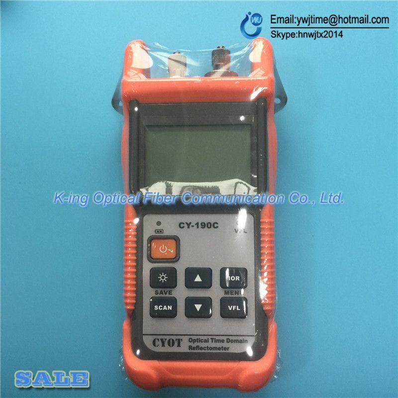 Optical Fiber Ranger MINI OTDR CY190S CY-190S Handheld OTDR 60 KM Faser finden fehler tester 1310/1550nm + 1 mW VFL