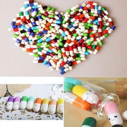 50 pcs/lot Amour Message Vide Capsule Enveloppe Lettre Papier pour Enfants Pilule Capsule Message Lettre Kawaii Émoticône Sourire Pilule