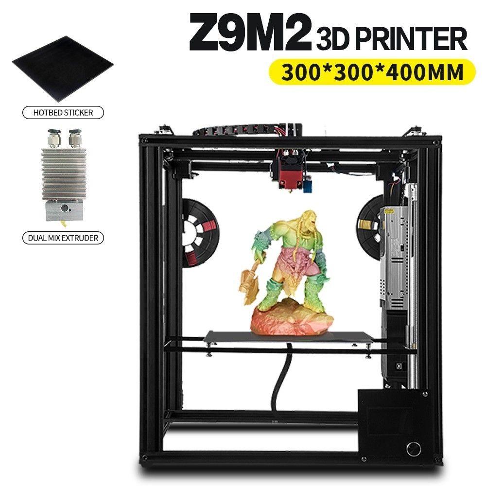 ZONESTAR Full Metal Large Size Aluminum Frame 3D Printer Impressora DIY Kit Dule Extruder Mix Color Auto Level Laser Engraving