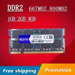 Mllse 1 GB 2 GB 4 GB DDR2 667 800 667 MHz 800 MHz PC2-5300 PC2-6400 1G 2G SODIMM so-dimm SDRAM memoria RAM memoria para portátil