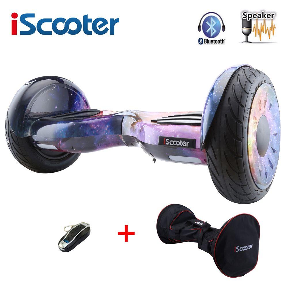 IScooter 10 zoll hoverboard mit Bluetooth lautsprecher zwei rädern intelligente selbstausgleich elektroroller elektrisches skateboard giroskuter Neue