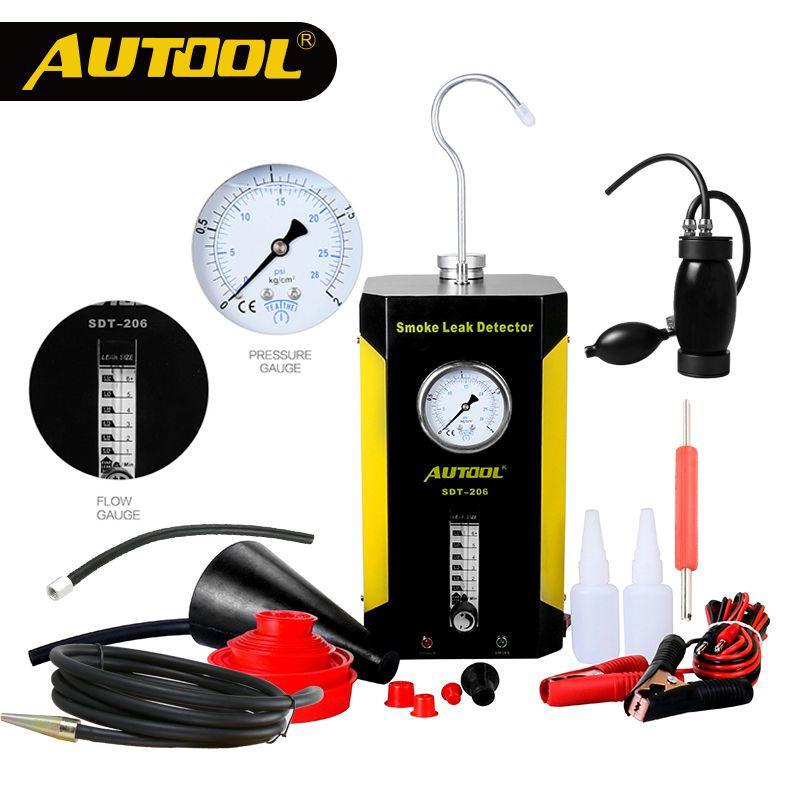 AUTOOL Automotive Smoke Leak Detect Machine Car Pipe Smog Leakage Detector Diagnostic Tool Perfect Auto Repair SDT 106 202 206