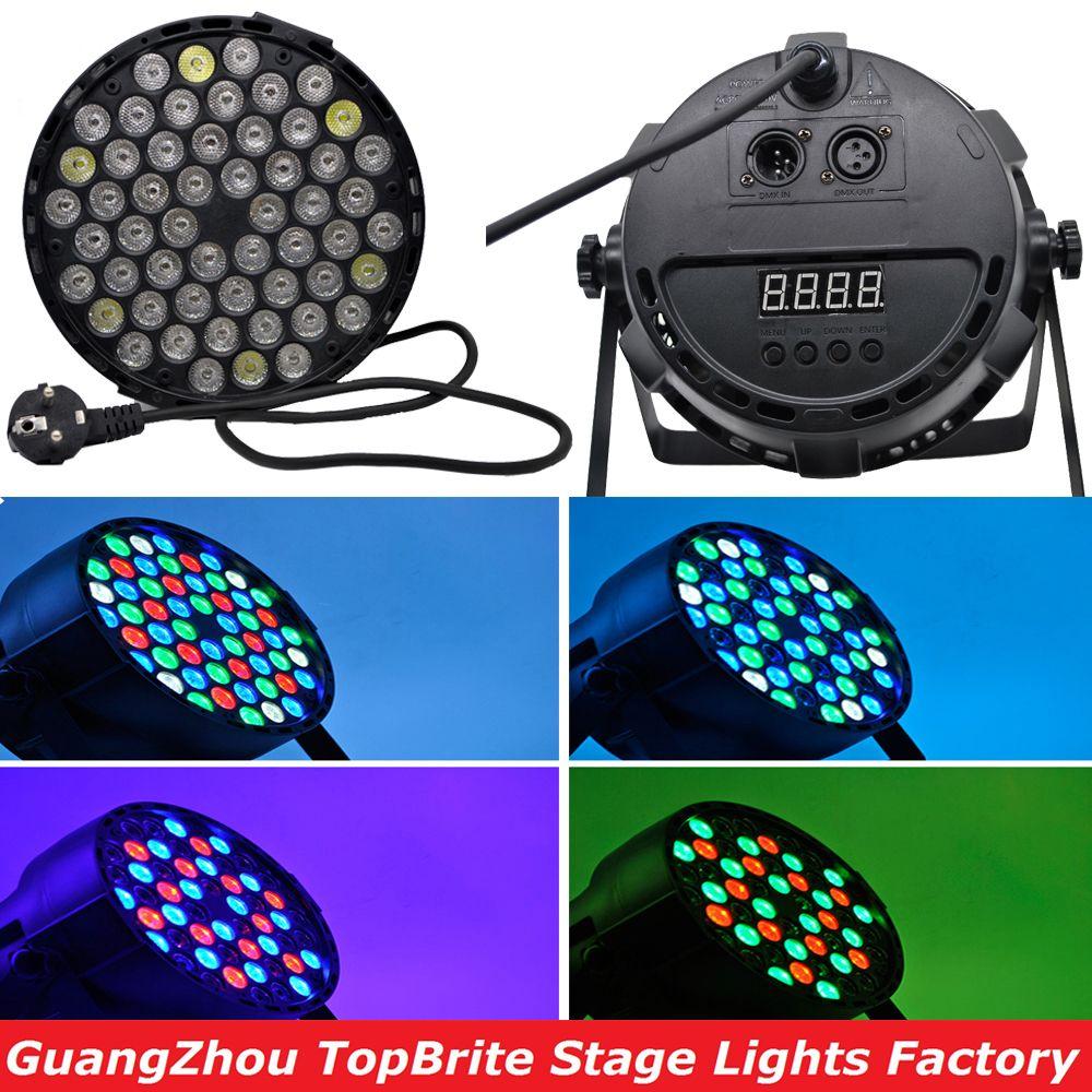 2016 Лидер продаж LED PAR может 54x3 Вт rgbw номинальной света строб dmx контроллер вечерние диско DJ Бар мерцающий эффект затемнения проектор