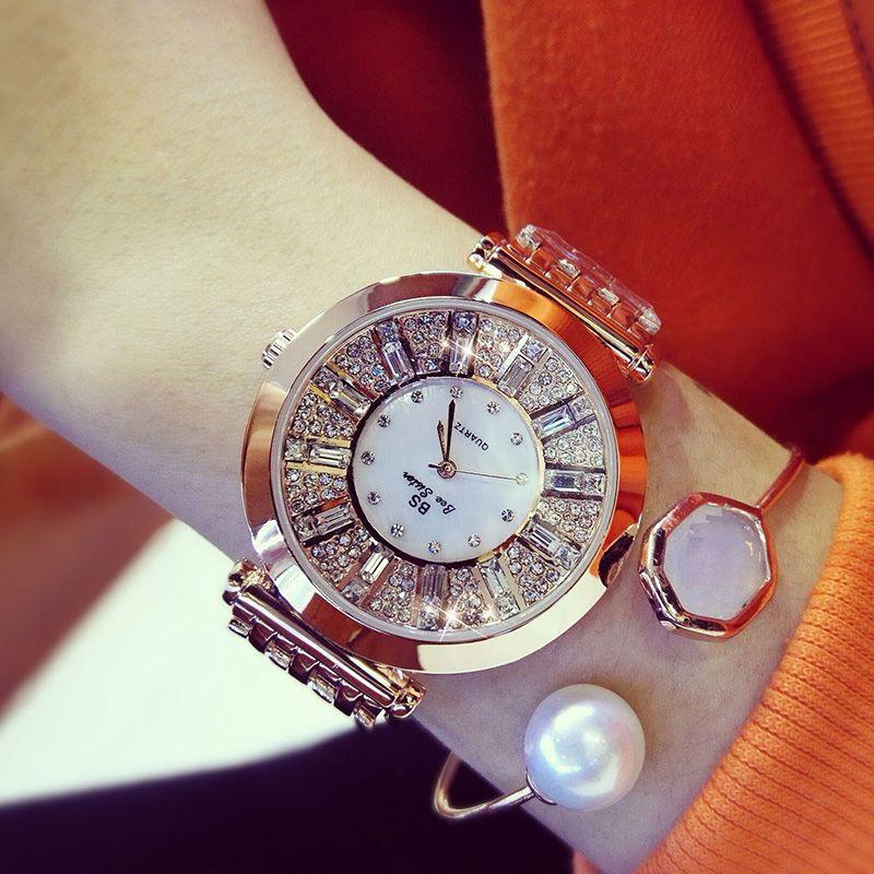 Women Watches Diamond Luxury Famous Brand Elegant Dress Quartz Watches Ladies Rhinestone Wristwatch Relogios <font><b>Femininos</b></font> ZDJ006