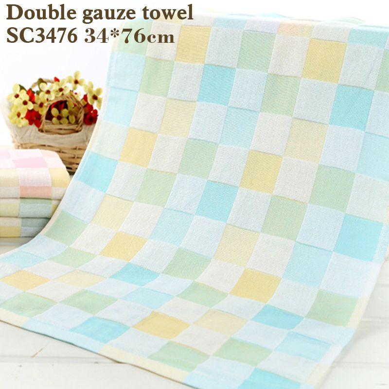 Хлопок полотенце двойной марлевые квадраты печатных детские towelthin разделе легко сухой не мыть хлопок и мохер полотенце ребенка slobb
