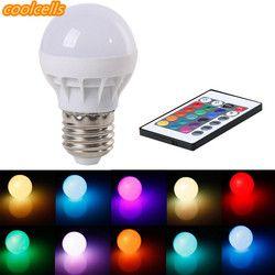 Nova 3 W E27 LED RGB DIODO EMISSOR de Luz Mudança de Cor Da Lâmpada Lâmpada com Controle Remoto IR Pop AC 85- 265 V 16 cores em mudança LEVOU Tubos de Lâmpadas