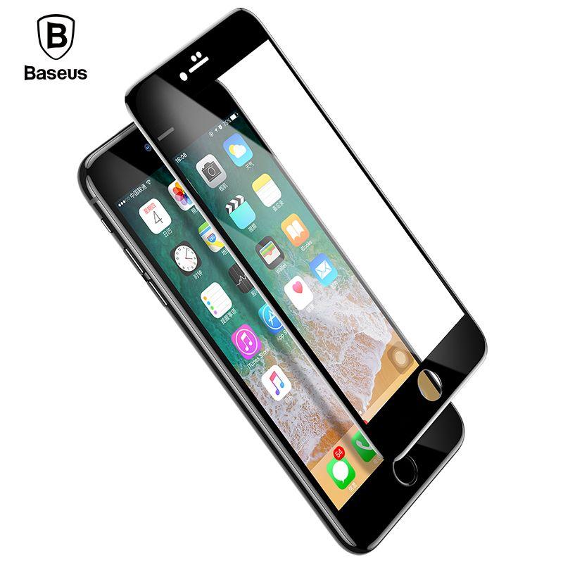 Baseus Date 5D Écran Protecteur Pour iPhone 7 8 Trempé Verre Plein écran Anti Bleu Lumière Avant En Verre Pour iPhone 7 Plus 8 Plus