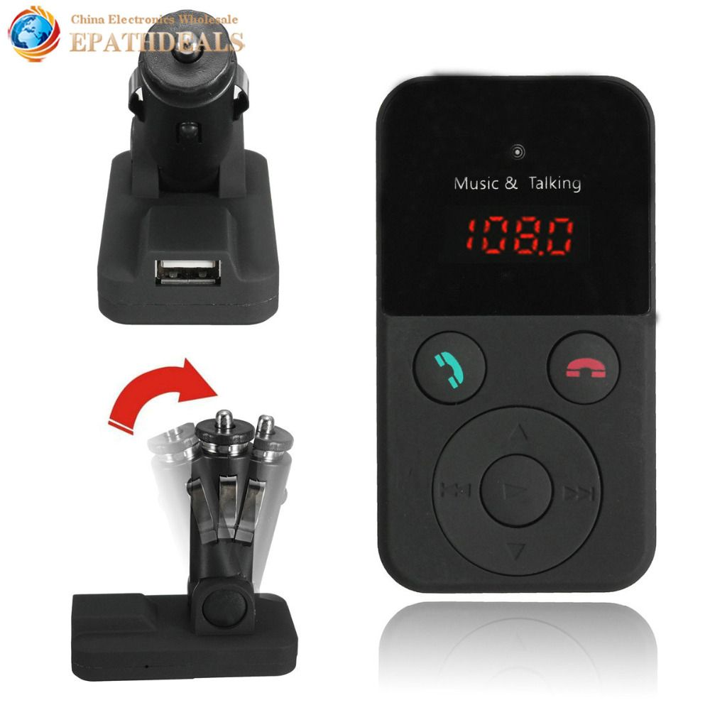 Wireless Car FM Transmitter Modulator Handsfree Bluetooth Car Kit MP3 Audio Player LCD Display Support SD USB Remote Control