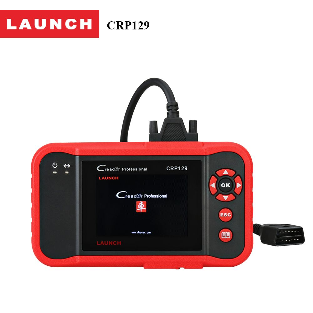 Launch X431 Creader CRP129 OBD2 Car Scanner OBDII Diagnostic Tool Auto Code Reader Engine ABS SRS Brake Oil Reset Diagnostcis