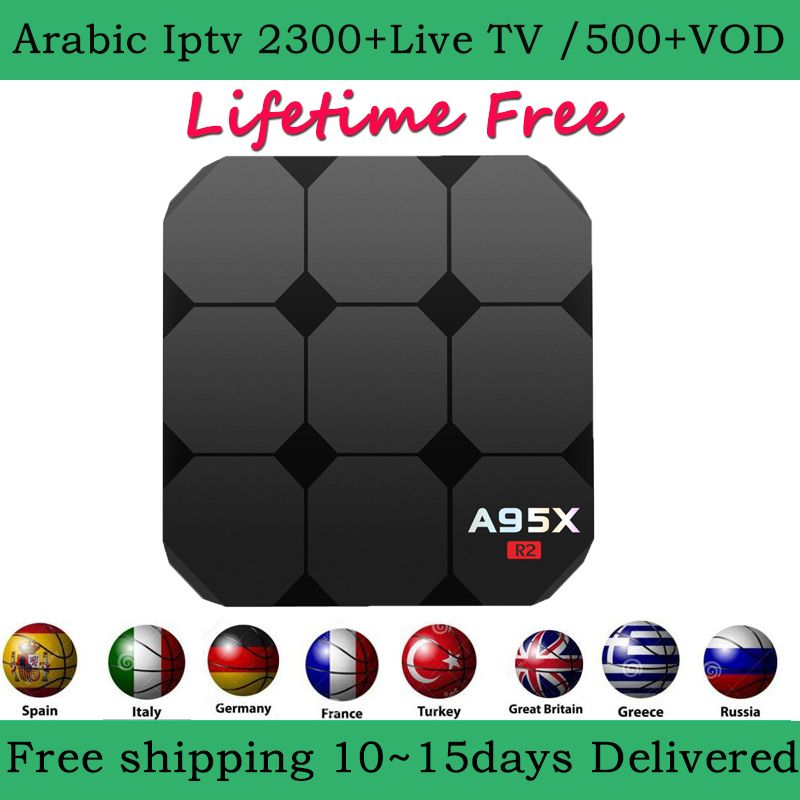 A95X Android 7.1 arabic iptv box 2900+Channels lifetime free French Sweden Norway Netherlands Germany Italy Turkey UK USA