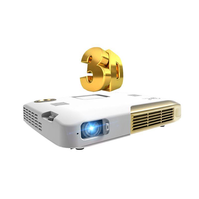 3D Mini DLP Portable Projetor Android TV LED HD 1080 p Smart Proyector Home Cinéma Cinéma 2D À 3D Beamer Vidéo Téléphone Projecteur