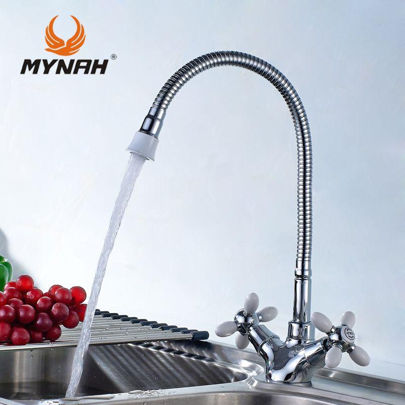 MAINATE Cuisine Robinet Russie livraison gratuite classique cuisine robinet double contrôle multi couleur choix de multi angle de conversion gratuit