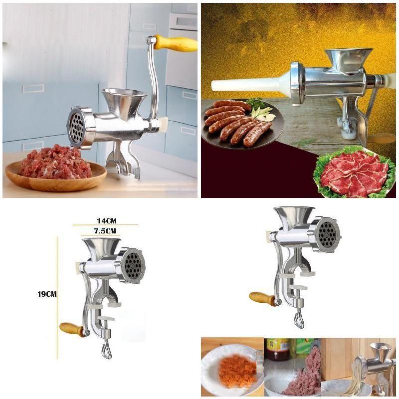 Grinder & Sausage Stuffer Meat Grinder Manual Meat Mincer Pasta Maker Crank @LS