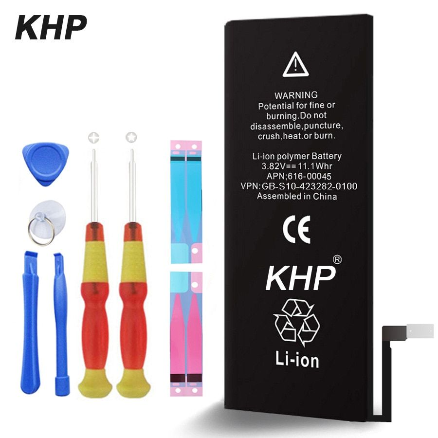 2017 New 100% Original KHP Phone Battery For iPhone 6 Plus Real Capacity 2915mAh With Machine Tools Kit Battery Sticker 0 Cycle