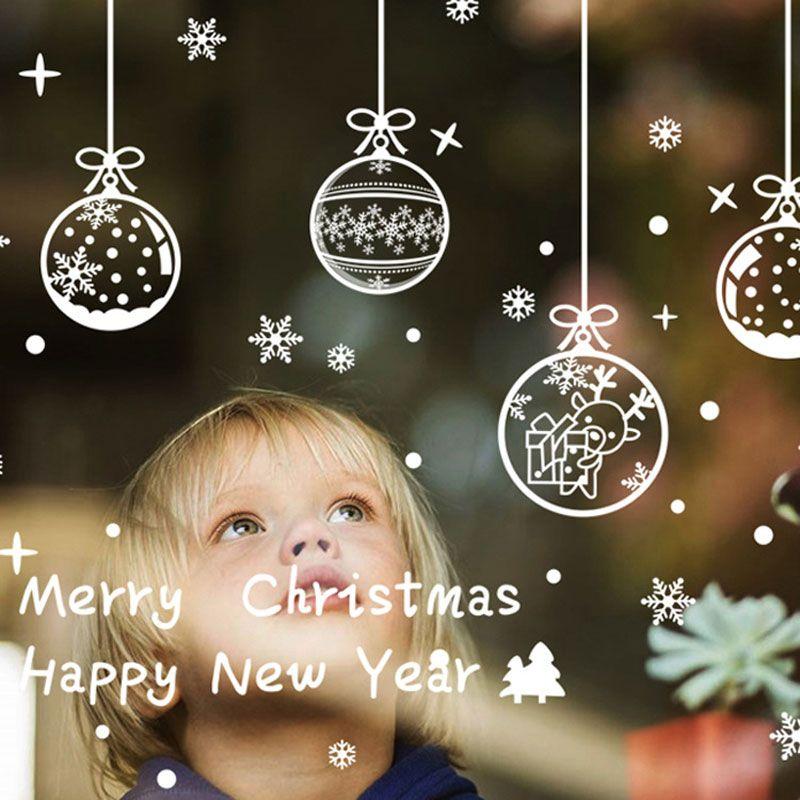 Noël suspendus pendentif flocon de neige autocollants Vêtements Magasin Verre Fenêtre Décoration Wall Sticker De Noël Fenêtre stickers muraux