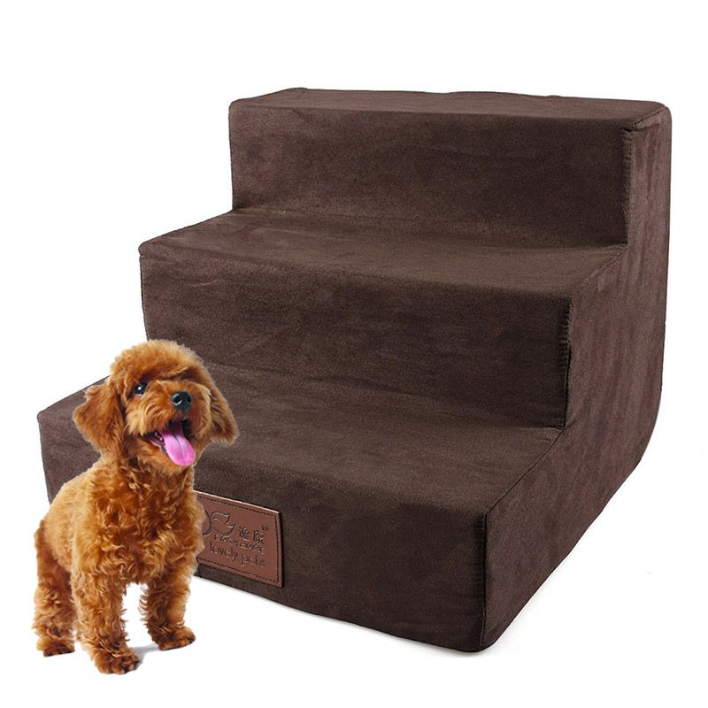 3 Steps Ladder for Small Dogs Puppy Cat Pet Stairs Anti-slip Removable Puppy Bed Stairs Dog House Pet Products Dog Supplies