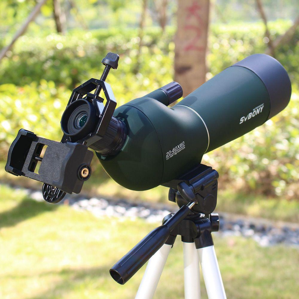 20-60x60 SV28 Spotting Scope Zoom Monocular Birdwatch & Universal Phone Adapter Mount Waterproof SVBONY <font><b>Telescope</b></font> Hunting F9308