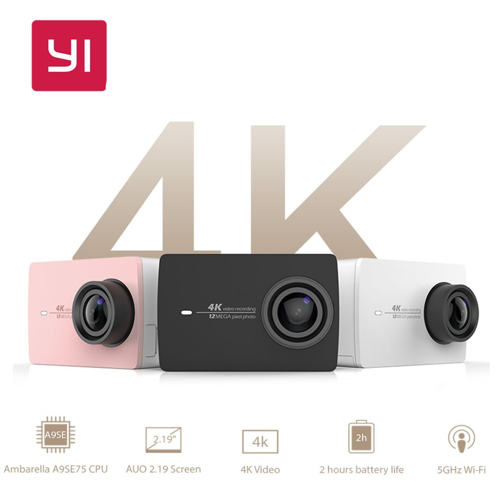 Xiaomi YI 4 karat Action Kamera Camcorder Ambarella A9SE Cortex-A9 ARM 12MP CMOS 2,19 155 Grad EIS LDC Internationalen edition
