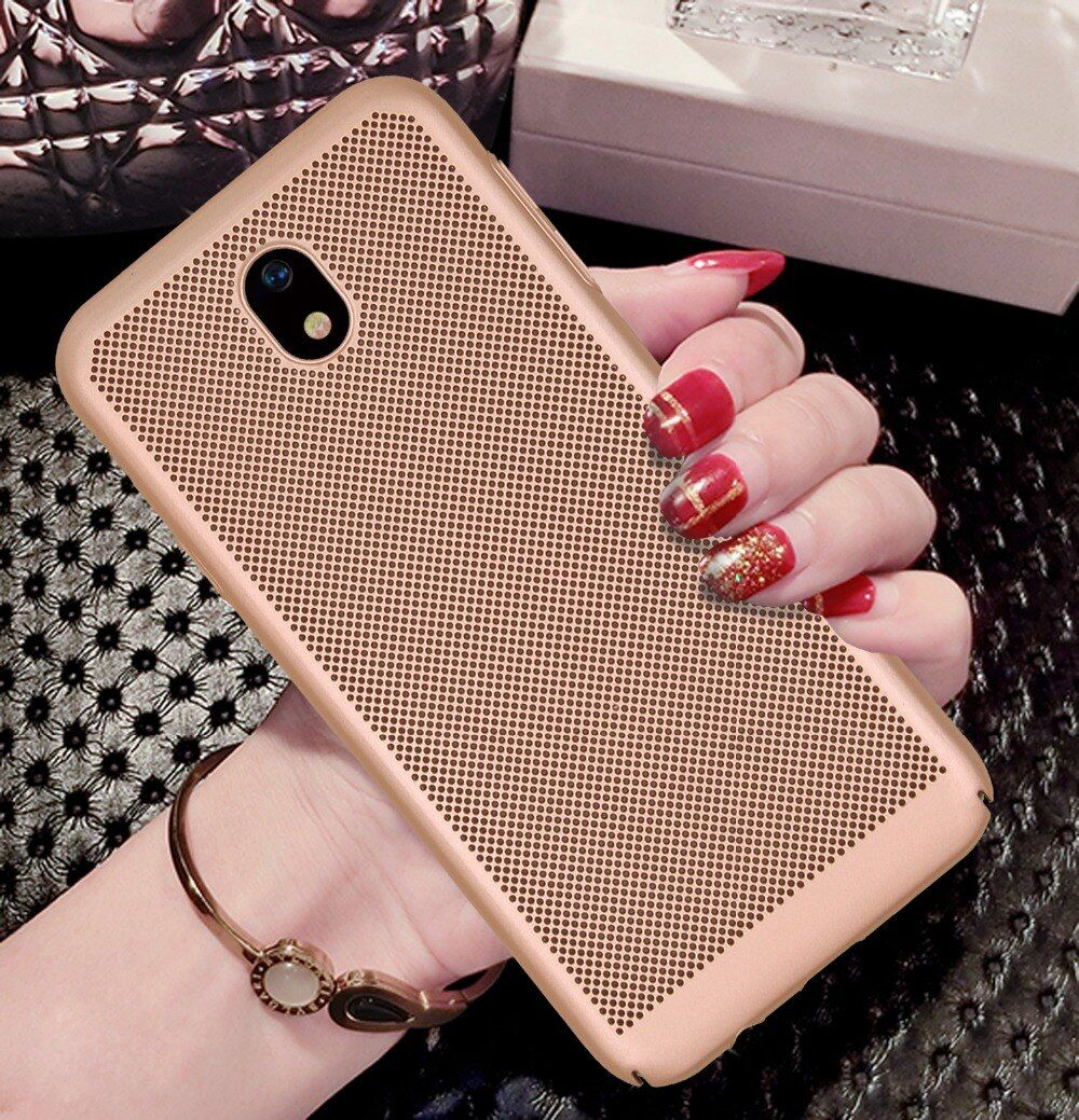 Luxury Case for Samsung Galaxy J7 2017 J730F J730 EU Eurasian Version thin Fashion cellular grid PC Cover back cover