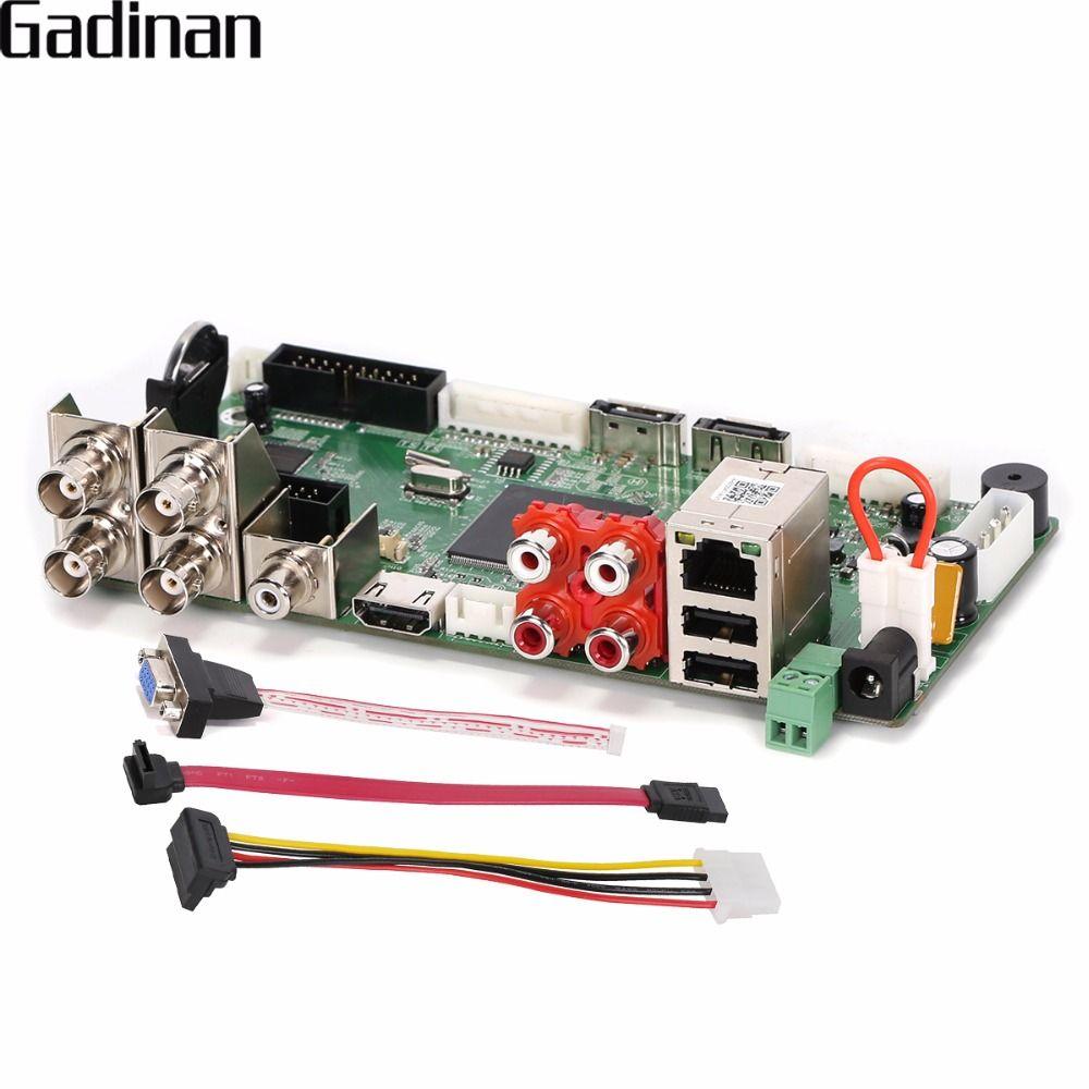 GADINAN CCTV H.264 AHD DVR 4 Channel 1080N Hybrid AHD/CVI/TVI/CVBS 960H D1 CIF 8 Channel 1080P NVR,HDMI 5 in 1 Main Board