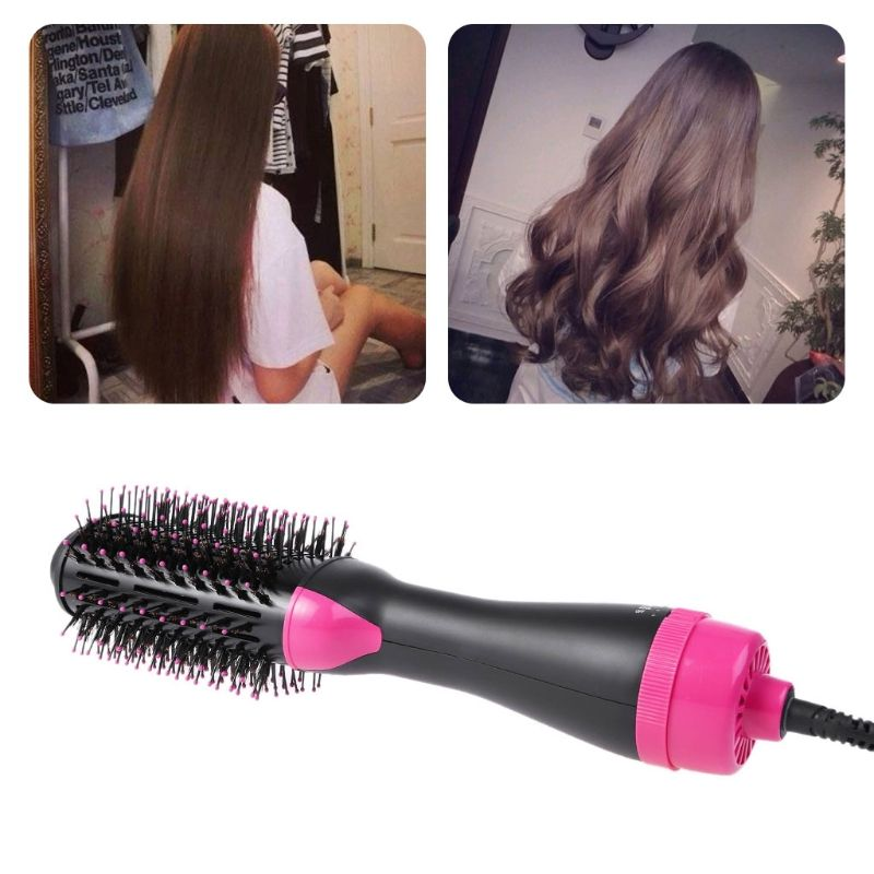2 en 1 Salon une étape cheveux infrarouge sèche lisseur Volumizer Styler professionnel Air cheveux boucles peigne