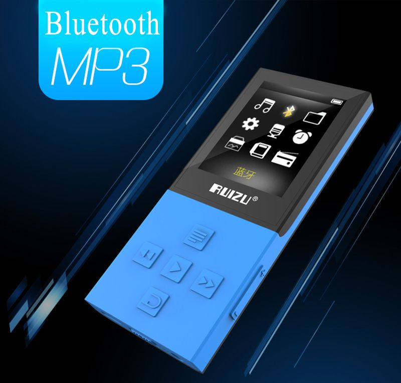 New Original RUIZU X18 Bluetooth Sport MP3 Player with 8G can playing130 Hours high quality lossless Recorder FM Bluetooth 4.0
