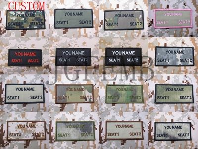 Nom personnalisé Bandes Texte marque Moral tactique Militaire Broderie patch Crochet et Boucle sur le dos