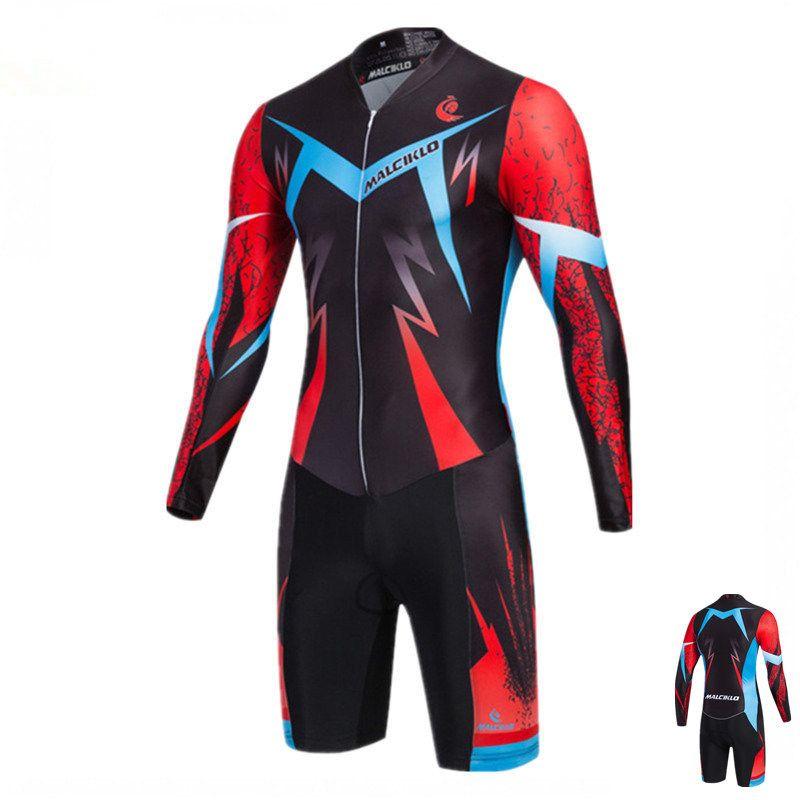 Malciklo Triathlon Anzug Hohe Qualität Radfahren Skinsuit Maillot Ropa Ciclismo männer Radfahren Jersey Pro Bike Kleidung Dünne Pad