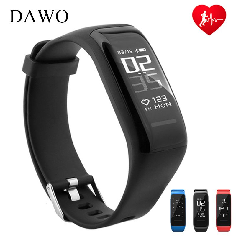 DAWO Smart Fitness Bracelet Activity Tracker Heart Rate Sleep Monitor IP67 Waterproof Smart Wristband For Android IOS PK miband2