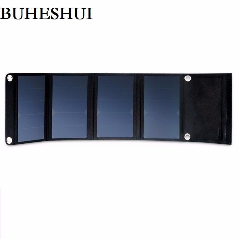 BUHESHUI 22W 5V Folding Solar Panel Portable High Efficiency Sunpower Dual USB Output Solar Panel Charger for iPhone&5V Device