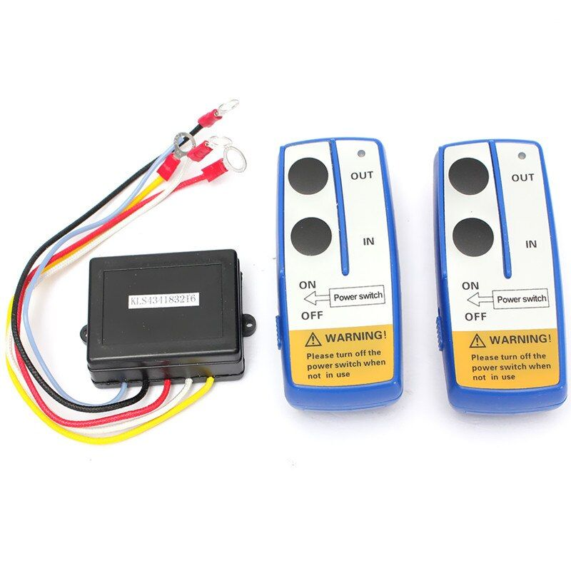 New !!! 3Pcs/Set 12V Wireless Winch Remote Control Twin Handset Two Matched Transmitters Easy Install Excellent Quality