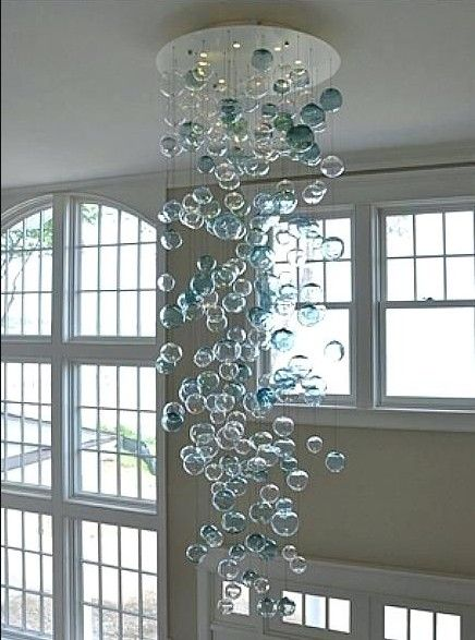 Heißer Verkauf Murano Glas Blase Kronleuchter LED Runde Kristall Kronleuchter für Wohnzimmer Treppe Kunst Dekoration
