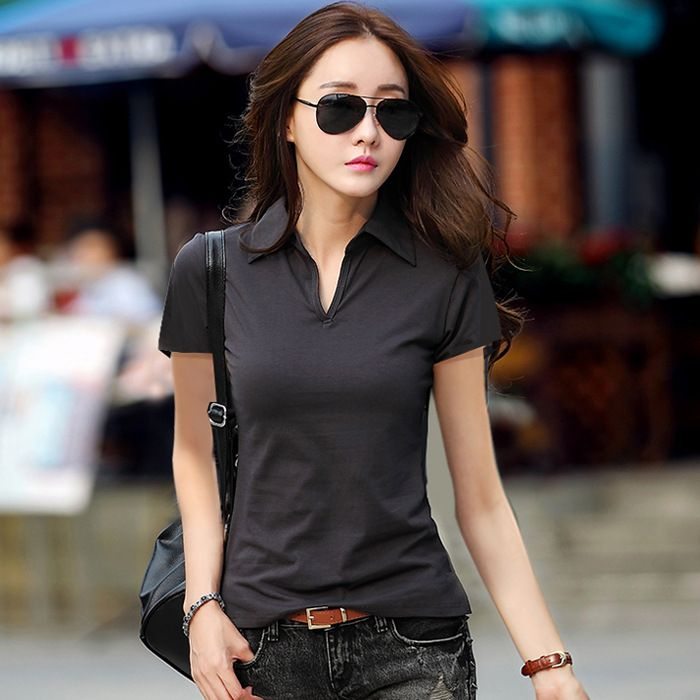 New 2017 Polo Women Short Sleeve 5 Colors Polo Shirt For Women Cotton Polos Mujer Summer Casual Tops Tees Ladies Polo