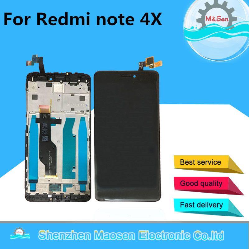 Original Für Xiaomi redmi hinweis 4X hinweis 4 Globale Version LCD display + touch digitizer mit rahmen Qualcomm Snapdragon 625