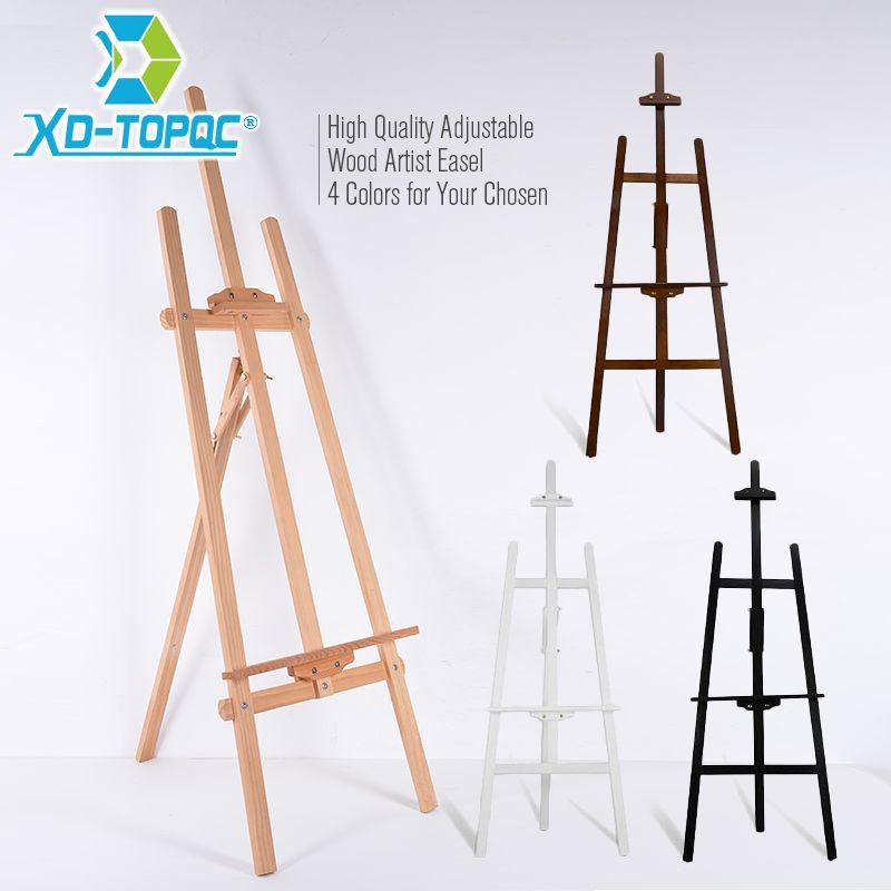 XINDI réglable en bois de pin Art peinture chevalet 4 couleurs en bois lisse croquis artiste chevalets pour planche à dessin et tableau noir WE01