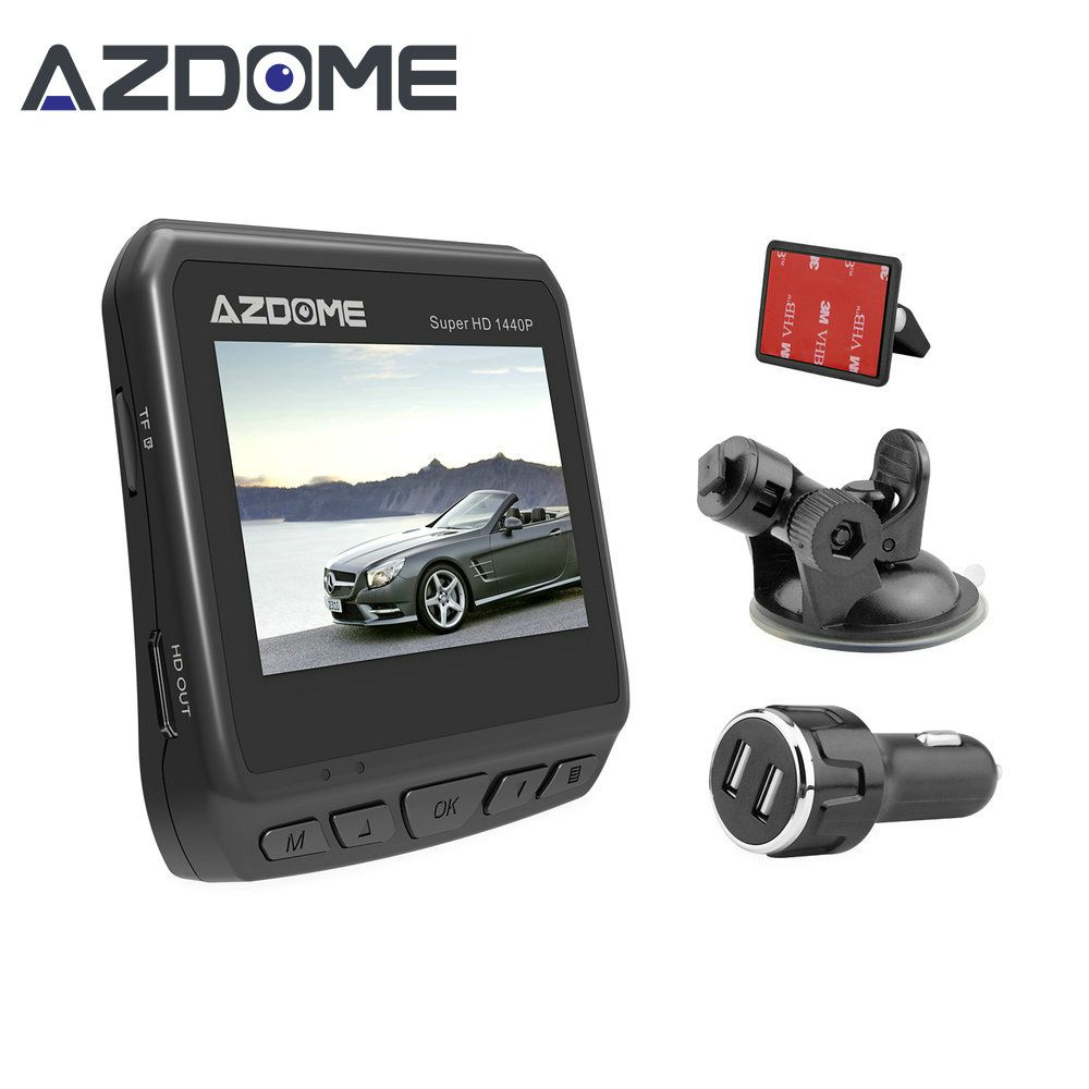 Azdome DAB211 Ambarella A12 2560x1440P Super HD Car DVR Dashboard Camera Video Recorder Loop Recording Dash Cam Night <font><b>Vision</b></font>
