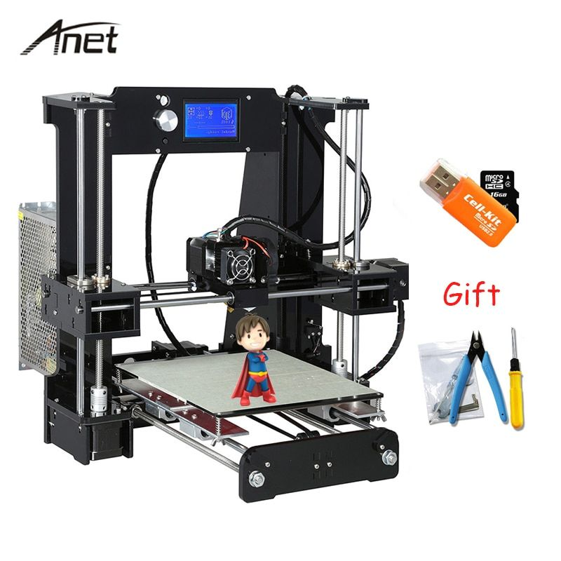 Anet Auto leveling A8 A6 impresora 3d Normal A8 A6 DIY 3D Printer Kit Aluminium Hotbed Imprimante 3D With 10m Filament SD Card