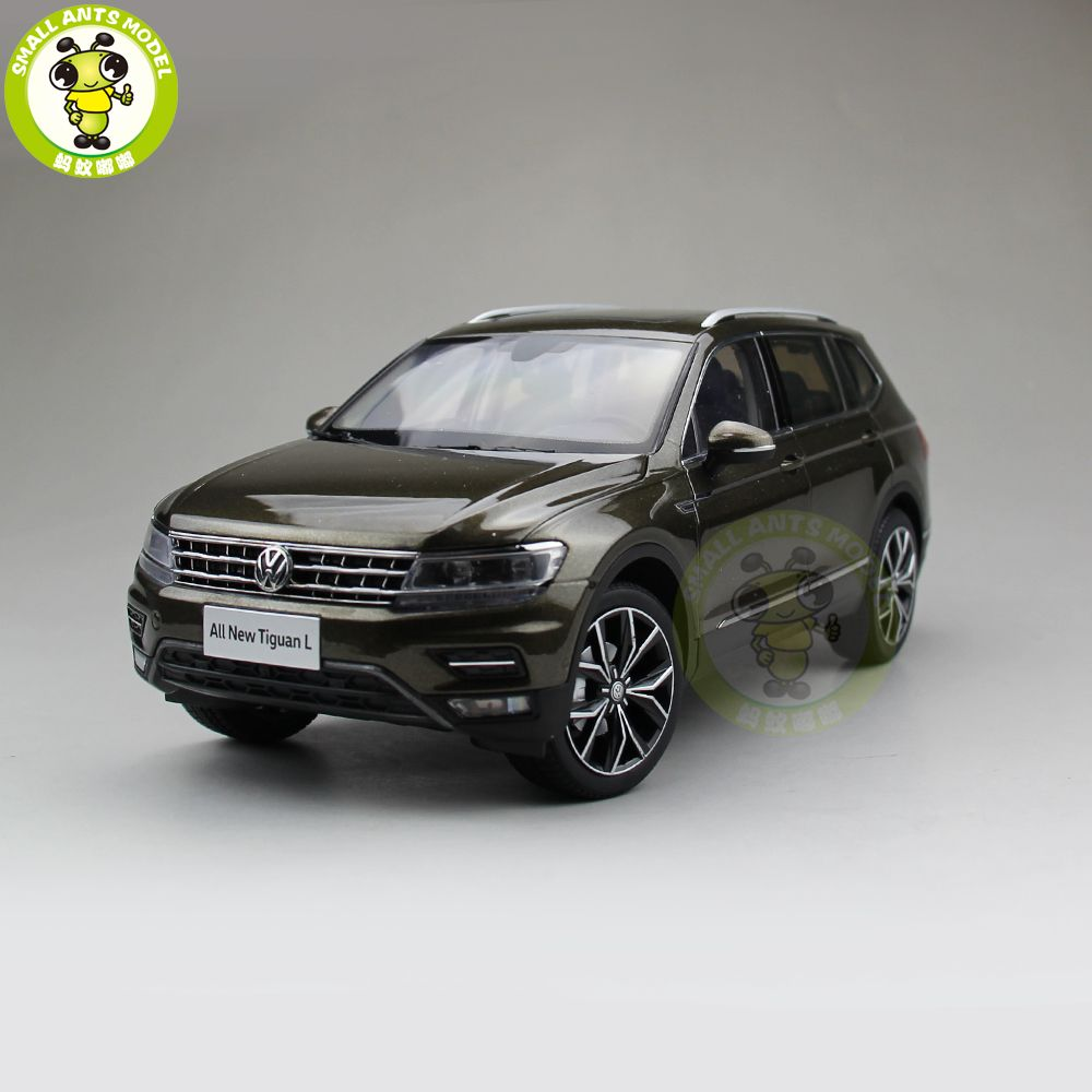 1/18 VW Tiguan L 2017 SUV Diecast Metal SUV CAR MODEL Toys for Kids gift hobby collection Brown