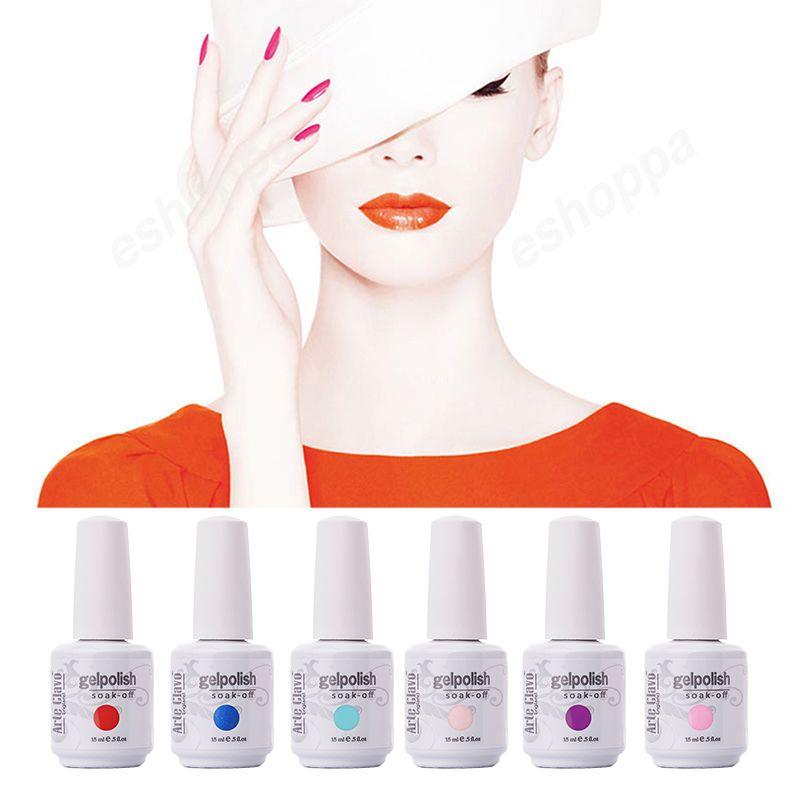 ARTE Clavo Лидер продаж Цвета 15 мл ARTE Clavo выбрать любой 1 Цвет французский Гвозди УФ-лак Soak Off UV Гель лаки для ногтей