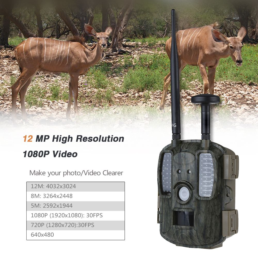 Scout Guard Hunting Camera Trail Forest Ghost BL480LP 12mp 2G/3G/4G WildCamera photo traps video game 4G Hunting hunter Cameras