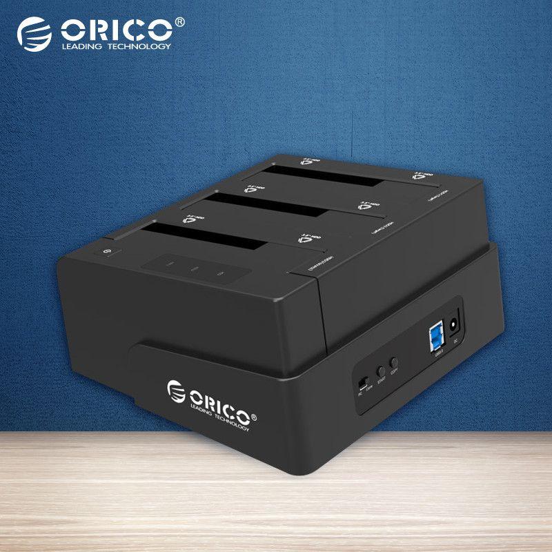ORICO USB 3.0 zu SATA 3 Bay Externe HDD Docking Station für 2,5 & 3,5 zoll HDD/SSD Mit 3 buchten Cloner Funktion [8 TB * 3 Unterstützung]