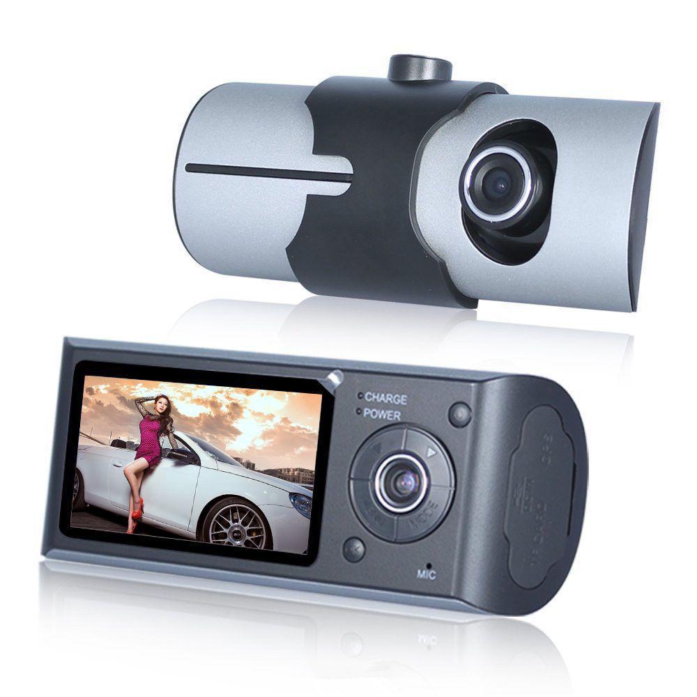 Dual Camera Car DVR R300 with GPS and 3D G-Sensor 2.7